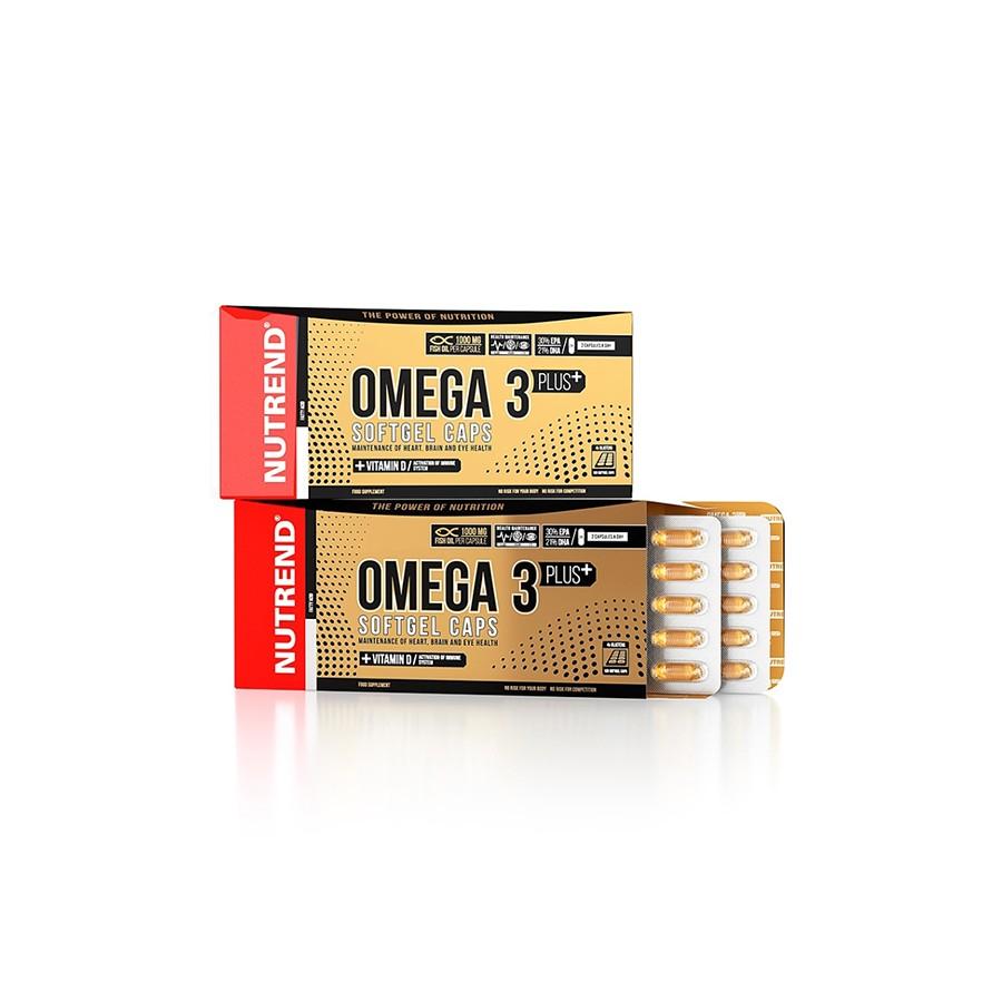 Nutrend OMEGA 3 PLUS geelkaplsid, 120 kps