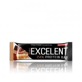 Nutrend EXCELENT kahekihiline proteiinibatoon 85 g, šokolaadimaitseline pistaatsiapähkli ja jõhvikatega