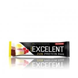 Nutrend EXCELENT kahekihiline proteiinibatoon 85 g,  sidrunimaitseline kohupiima jõhvikate ja vaarikate