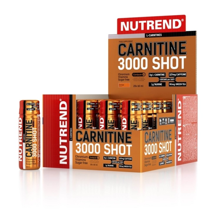 Nutrend CARNITINE 3000 SHOT 60 ml, apelsin